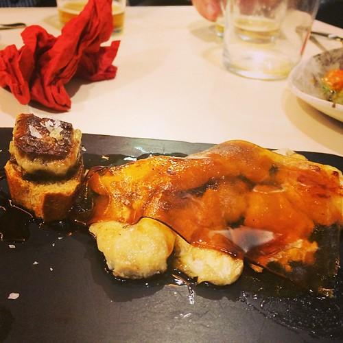 Hake throat with some cheeky foie gras #sansebastian