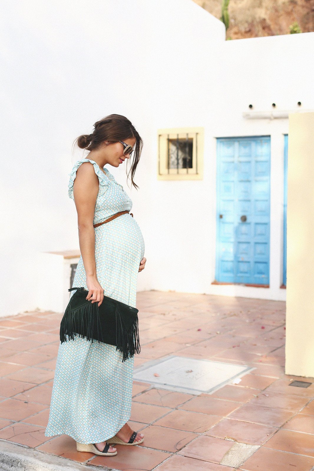 maternity long dress - 2