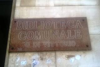 Noicattaro. Biblioteca comunale front