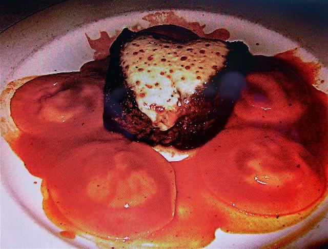 filet withblue cheese raviolis