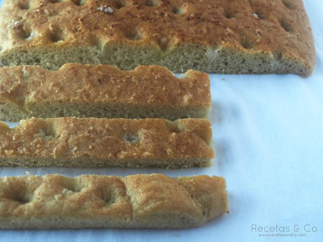 Recetas pan casero Focaccia