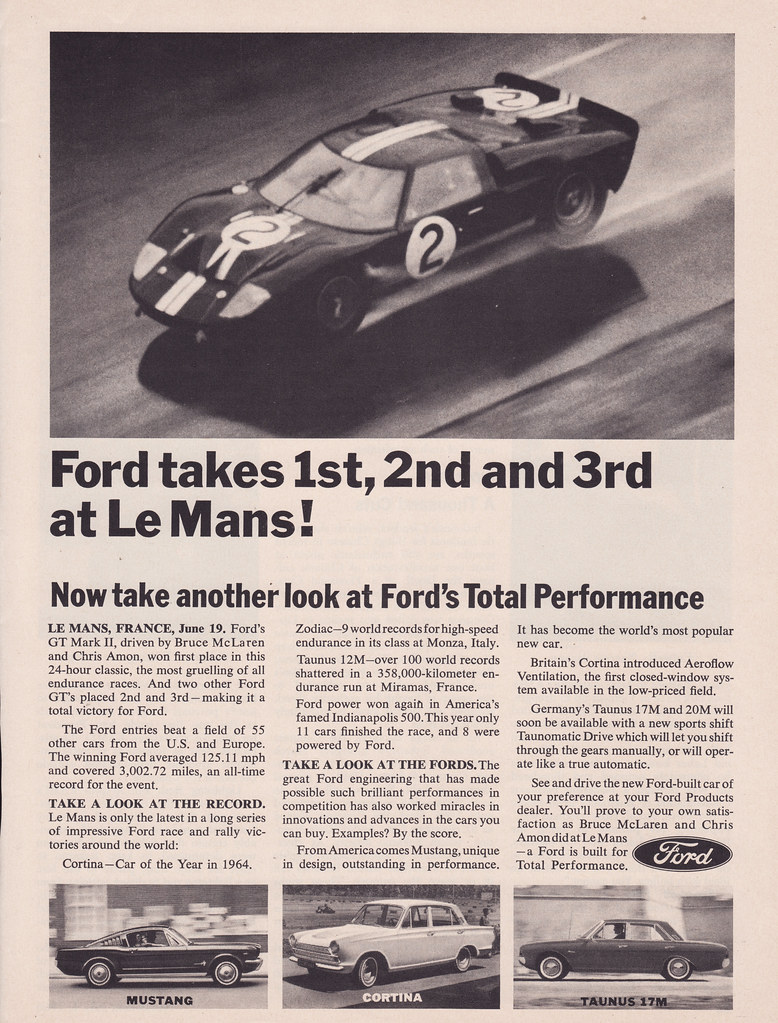 Aussiefordadverts  Ford Gt Wins Le Mans Ad Usa By Five Starr Photos Aussiefordadverts