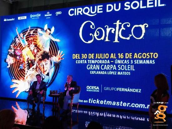 Rueda de prensa Corteo Cirque Du Solei (4 Jun)