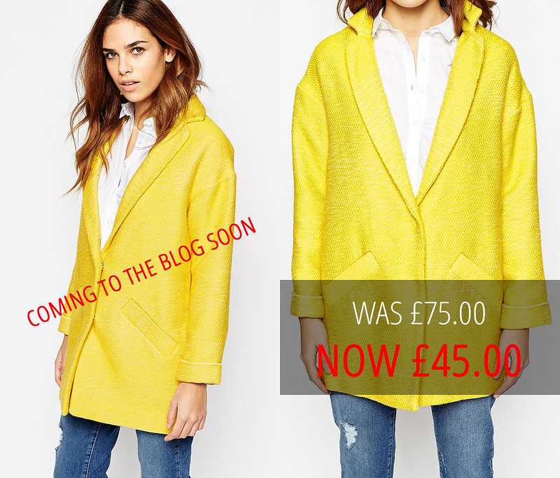 Summer sales picks | Asos yellow bouclé coat
