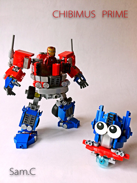 LEGO Transformers: Chibimus Prime- With Ironman 2