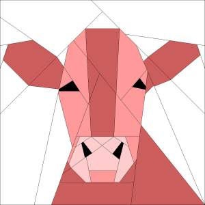 Paper pieced cow