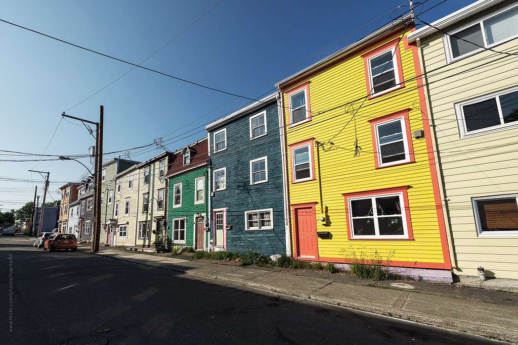 Colorful Houses In St John 39 S Newfoundland Downtown St