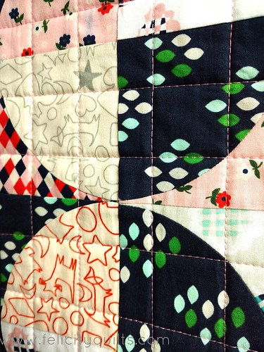 MQG Swap mini. Quilting detail.