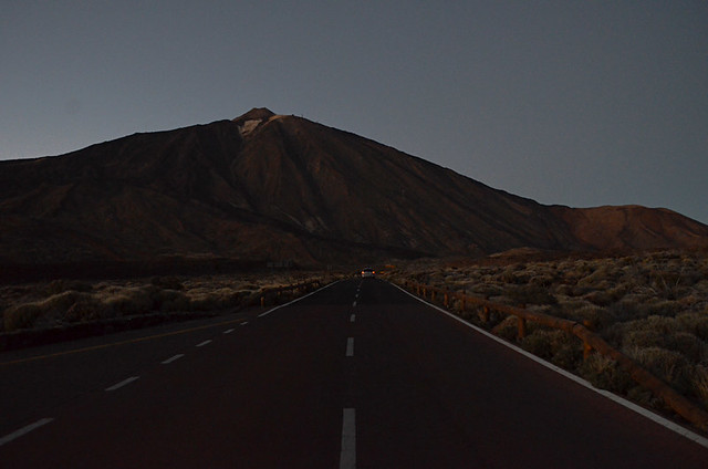 Mount Teide after dark, Teide National Park, Tenerife