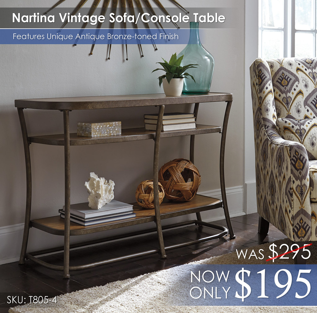 Nartina Sofa Console Table T805-4