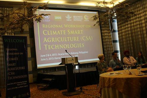 Open forum at the climate-smart agriculture workshop