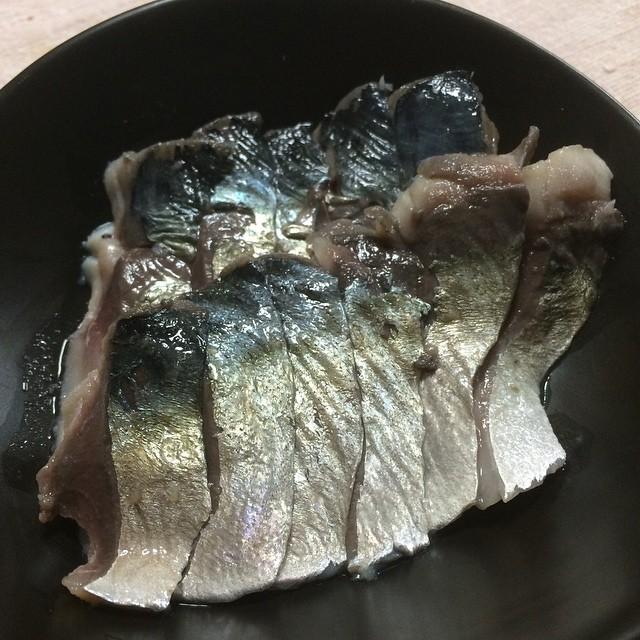 しめ鯖、作りました。 #dinner
