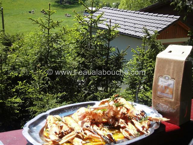 Langoustines sur Oranges Grillées au Barbecue © Ana Luthi  Tous droits réservés 3