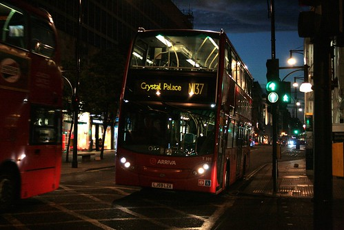 Arriva London T101 on Route N137, Oxford Street