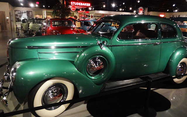 green-classic-car