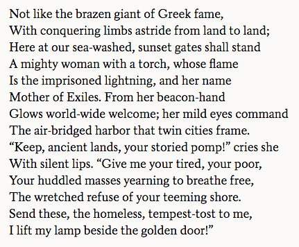 The New Colossus - Emma Lazarus