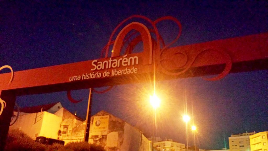 Entrando em Santarém