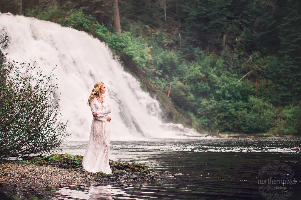 Waterfall Elopement British Columbia Photographer Rocky Mountains
