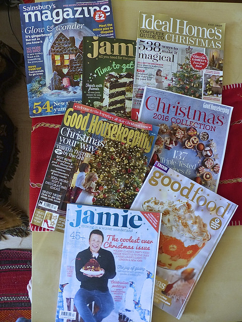 a few Christmas magazine
