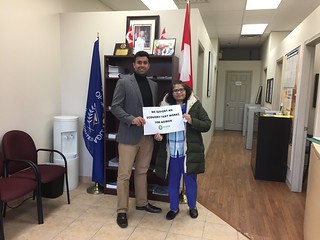 MP Gagan Sikand with Kaukab | by Oxfam Canada