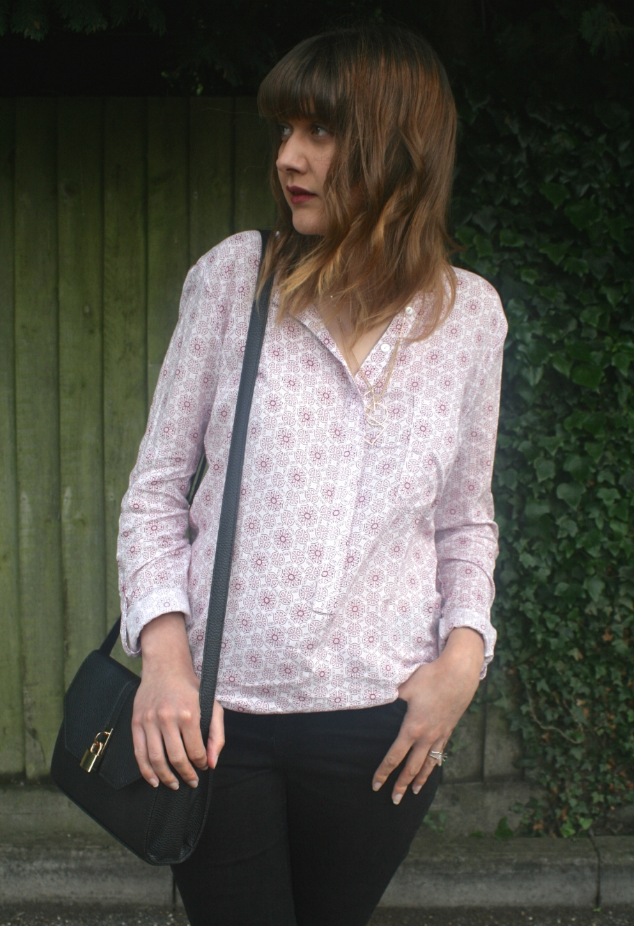 patterned 70s shirt