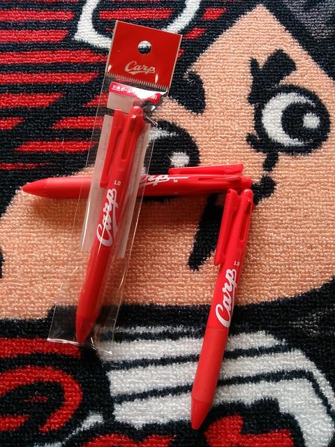 カープ3色ボールペン(赤)(赤)(赤)
