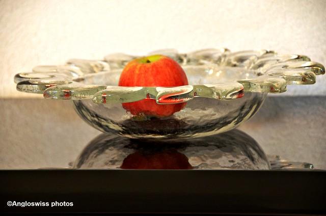 Shiny glass dish