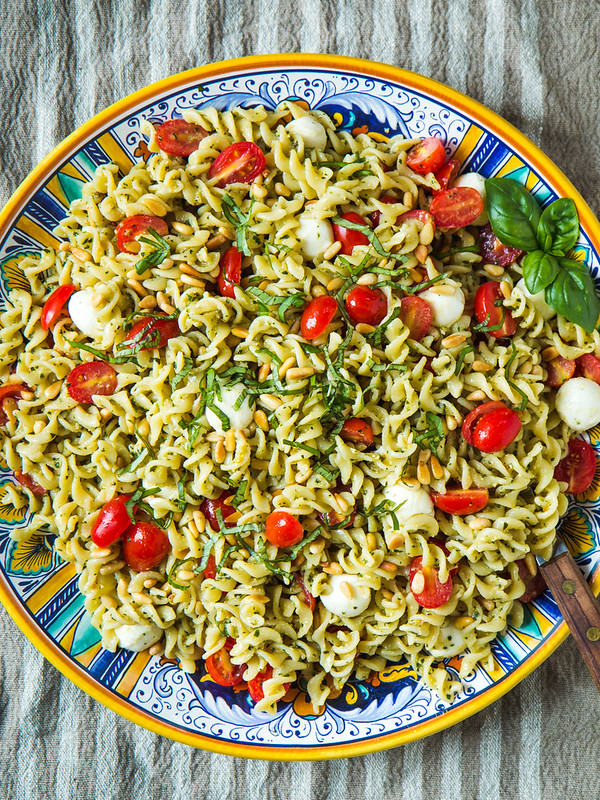 Caprese Pasta Salad & Tips for Perfect Pesto Pasta