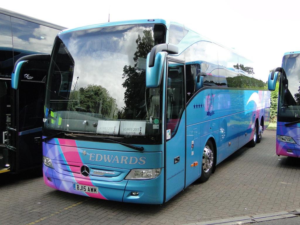 Edwards coaches mercedes benz tourismo coach bj15 awm flickr for Mercedes benz coach