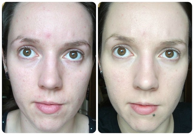 Rimmel Match Perfection Light Perfecting Radiance Foundation Before After