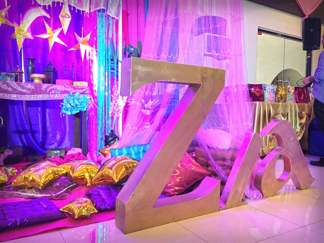 Zia's Arabian Nights Themed Party – 1st Birthday | Party ...