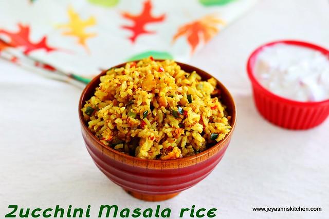 Zucchini masala rice