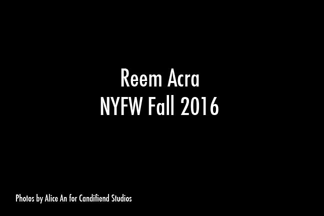 NYFW FW 2016 | Reem Acra