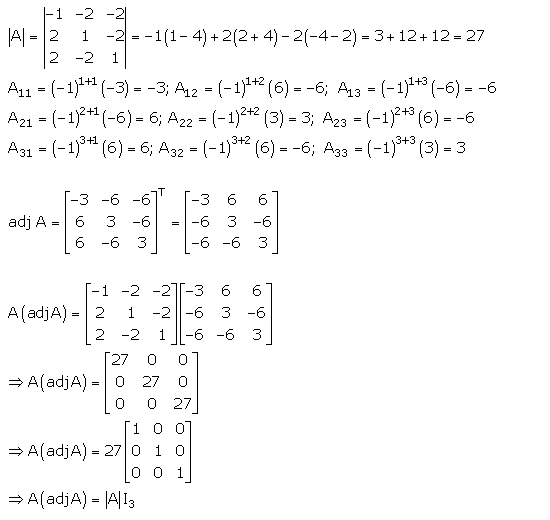 RD Sharma Class 12 Solutions Chapter 7 Adjoint and Inverse of Matrix Ex 7.1 Q 38