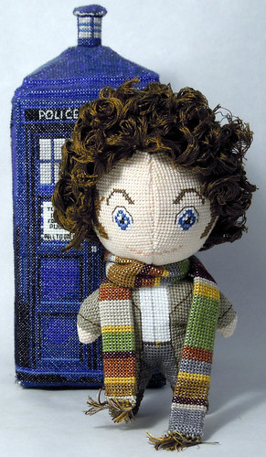 Doctor Who 3D cross stitch patterns by Robins Design - Tom Baker
