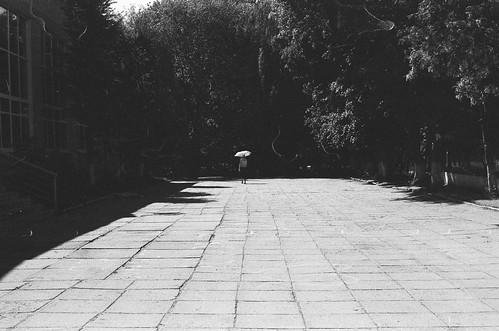 Umralla walking away