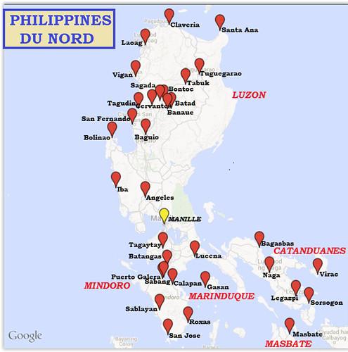 Trajet-Philippines Nord