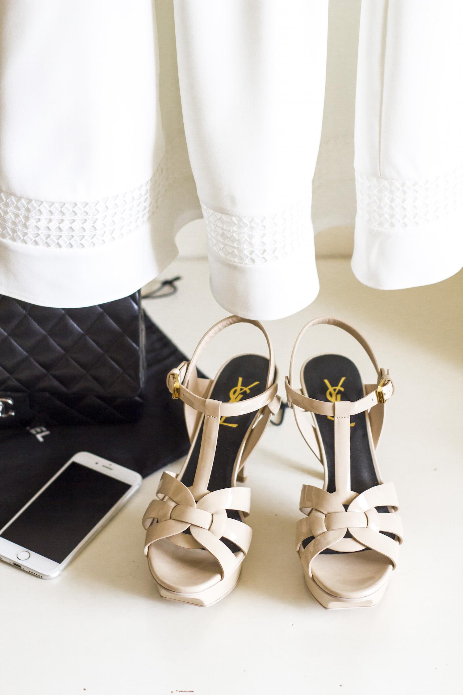 enn franco says fashion blog graduation outfit reiss dress chanel bag saint laurent sandals chopard ring tiffany key pendant