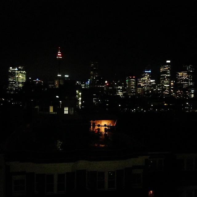 Sydney at night, from Potts Point