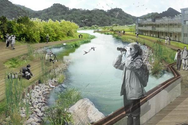 台北市首座都會濕地公園:永春陂生態濕地公園。圖片來源:台北市政府提供