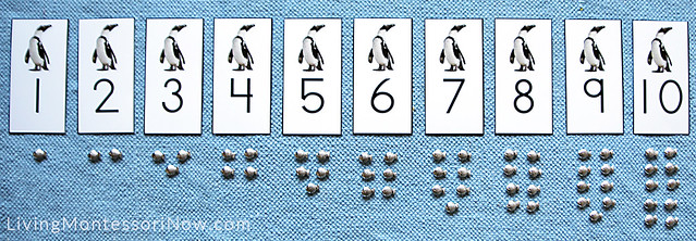 Penguin Cards and Counters Layout