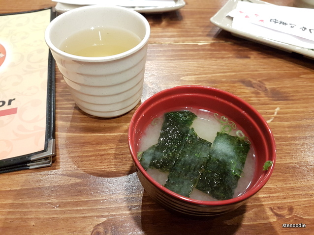 tea and miso soup