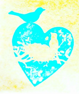 Lovebirds stamp