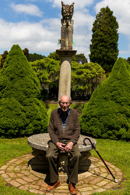 Dad in the Sundial Garden