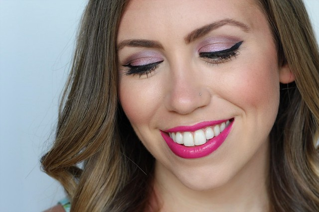 Soft Purple Eyes & Fuchsia Lip