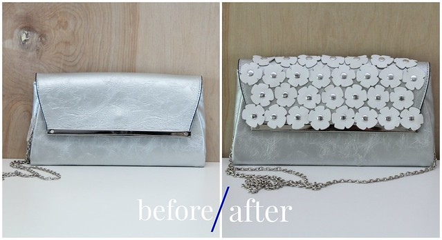 how to make a diy leather daisy clutch tutorial via kristina j blog