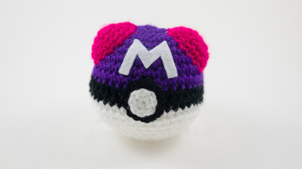 Amigurumi Master Ball : Pokeball Master Ball Pokemon crochet amigurumi by Chikai ...