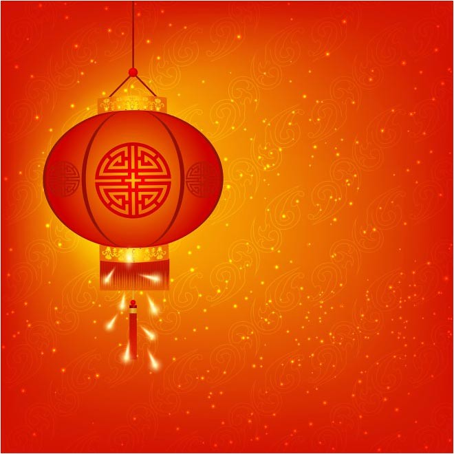 Free Vector Happy Chinese New Year 2017 Lantern Background