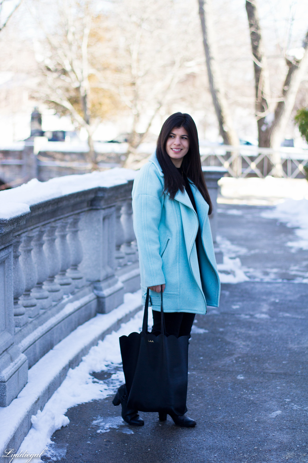 mint cocoon coat, black sweater, scalloped tilly tote-2.jpg