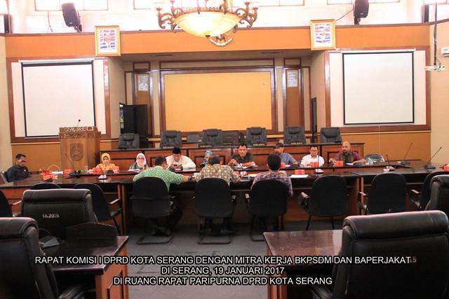komisi I dengan mitra kerja BKPSDM dan Baperjakat
